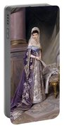 Portait Of Empress Maria  Fyodorovna Portable Battery Charger