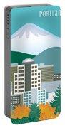 Portland Oregon Vertical Skyline Portable Battery Charger