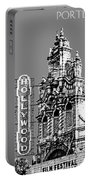 Portland Skyline Hollywood Theater - Pewter Portable Battery Charger
