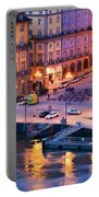 Porto Old Town In Portugal At Dusk Portable Battery Charger