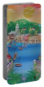 Portofino, Italy, 2012 Acrylic On Canvas Portable Battery Charger