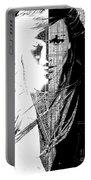 Portrait Art Jennifer Lopez  Portable Battery Charger