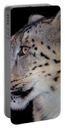 Portrait II Of A Snow Leopard Portable Battery Charger