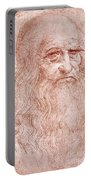 Portrait Of A Bearded Man Portable Battery Charger by Leonardo da Vinci