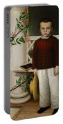 Portrait Of A Boy Portable Battery Charger by James B Read