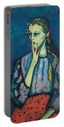 Portrait Of A Girl Portable Battery Charger