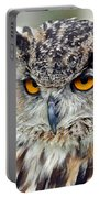Portrait Of A Great Horned Owl II Portable Battery Charger