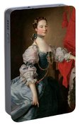 Portrait Of A Lady In A Blue Gown Portable Battery Charger