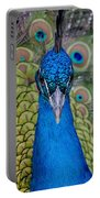 Portrait Of A Peacock Portable Battery Charger