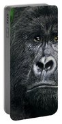 Portrait Of A Wild Mountain Gorilla Silverbackhighly Endangered Portable Battery Charger