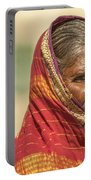 Portrait Of A Woman In Hampi Portable Battery Charger