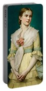Portrait Of A Young Girl Portable Battery Charger by George Chickering Munzig