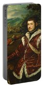 Portrait Of A Young Man As David Portable Battery Charger