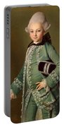 Portrait Of Aleksey Bobrinsky As A Child Portable Battery Charger