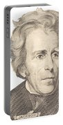 Portrait Of Andrew Jackson On White Background Portable Battery Charger