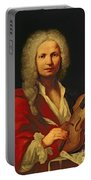 Portrait Of Antonio Vivaldi Portable Battery Charger