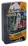 Portrait Of Ayrton Senna Portable Battery Charger