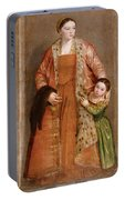 Portrait Of Countess Livia Da Porto Thiene And Her Daughter Deidamia Portable Battery Charger