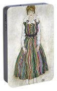 Portrait Of Edith Schiele, The Artists Portable Battery Charger
