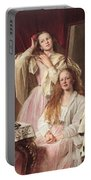 Portrait Of Emma And Frederica Bankes Portable Battery Charger