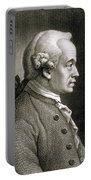 Portrait Of Emmanuel Kant Portable Battery Charger