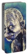 Portrait Of Gollum Portable Battery Charger