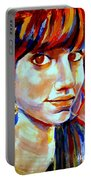 Portrait Of Ivana Portable Battery Charger