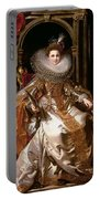 Portrait Of Maria Serra Pallavicino Portable Battery Charger