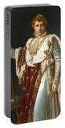 Portrait Of Napoleon In Coronation Robes Portable Battery Charger