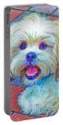 Portrait Of Shih Tzu Portable Battery Charger