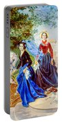 Portrait Of Sisters Shishmarev Portable Battery Charger
