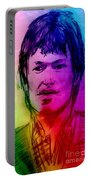 Rainbow Portrait Of Stevie Winwood Portable Battery Charger