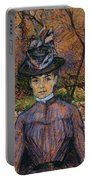 Portrait Of Suzanne Valadon Portable Battery Charger