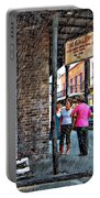 Portrait Of The Street Musician Sketch  Portable Battery Charger