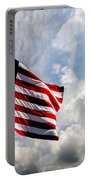 Portrait Of The United States Of America Flag Portable Battery Charger