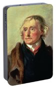 Portrait Of Thomas Jefferson Portable Battery Charger