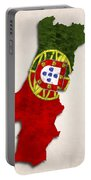 Portugal Map Art With Flag Design Portable Battery Charger