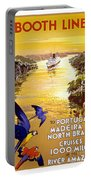 Portugal Vintage Travel Poster Portable Battery Charger