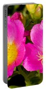 Portulaca Flower Portable Battery Charger