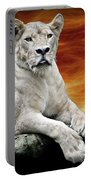 Posing Lioness Portable Battery Charger