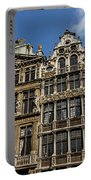 Postcard From Brussels - Grand Place Elegant Facades Portable Battery Charger