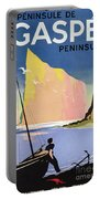 Poster Advertising The Gaspe Peninsula Quebec Canada Portable Battery Charger