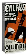 Poster For The Play The Devil Passes Portable Battery Charger