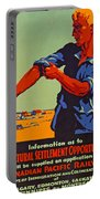 Poster Promoting Emigration To Canada Portable Battery Charger