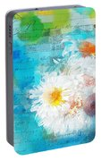 Pot Of Daisies 02 - J3327100-bl1t22a Portable Battery Charger
