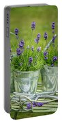 Pots Of Lavender Portable Battery Charger