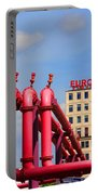 Potsdamer Platz Pink Pipes In Berlin Portable Battery Charger by Ben and Raisa Gertsberg