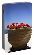 Potted Geranium Portable Battery Charger