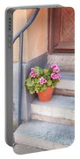 Potted Plant Front Of House Portable Battery Charger
