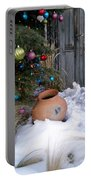 Pottery In Snow At Xmas Portable Battery Charger